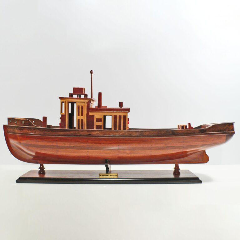 Håndlavet sejlskibsmodel af Rankou Maru